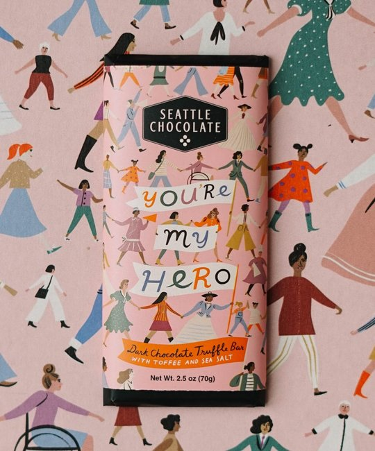 Seattle Chocolate - SC Seattle Chocolate - You're My Hero Truffle Bar