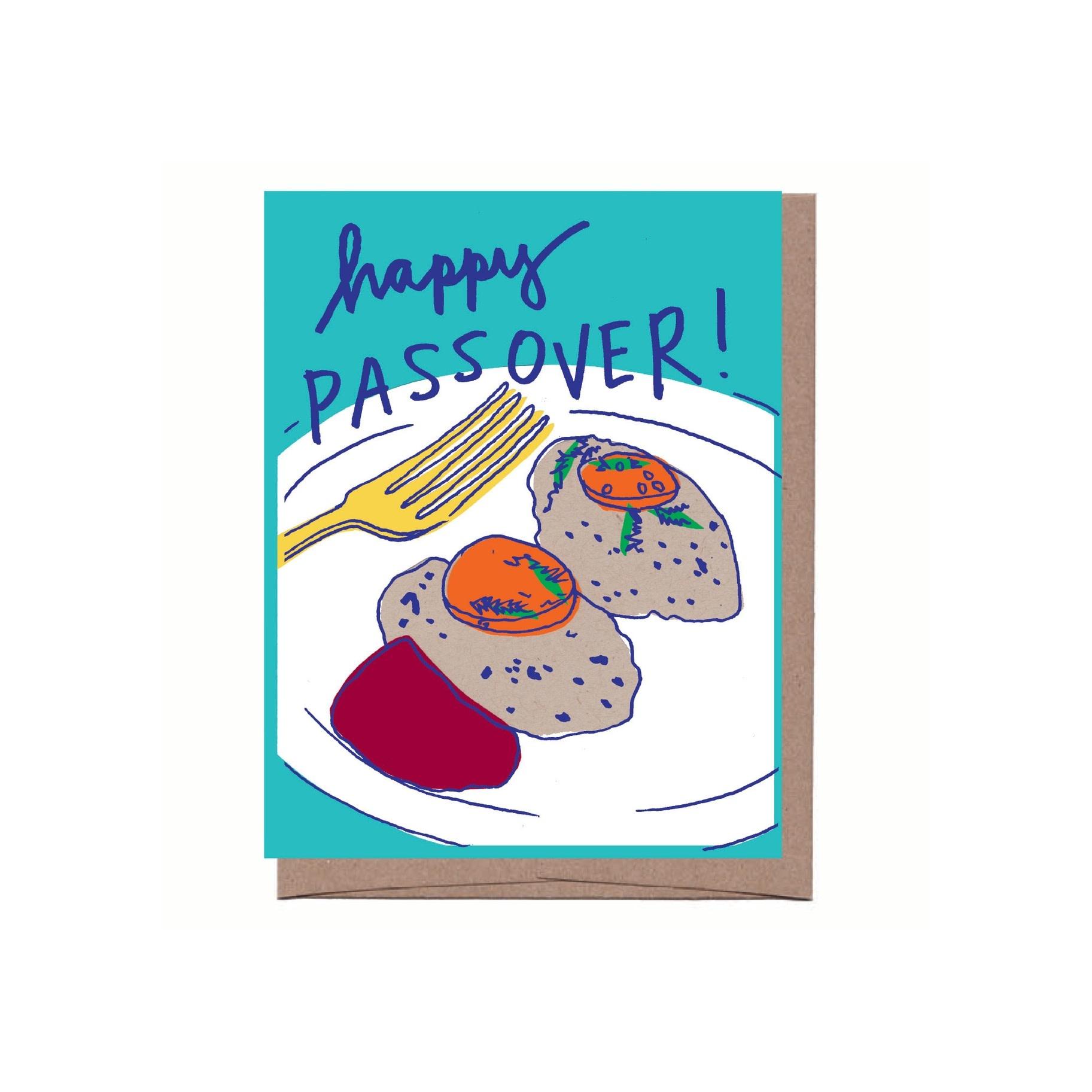 La Familia Green - LFG Gefilte Fish Happy Passover Card