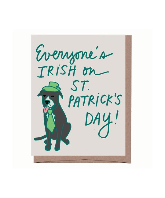 La Familia Green - LFG Irish Frogger Dog St. Patrick's Day Card