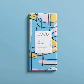 Coco Chocolatier Orange Milk Chocolate Bar