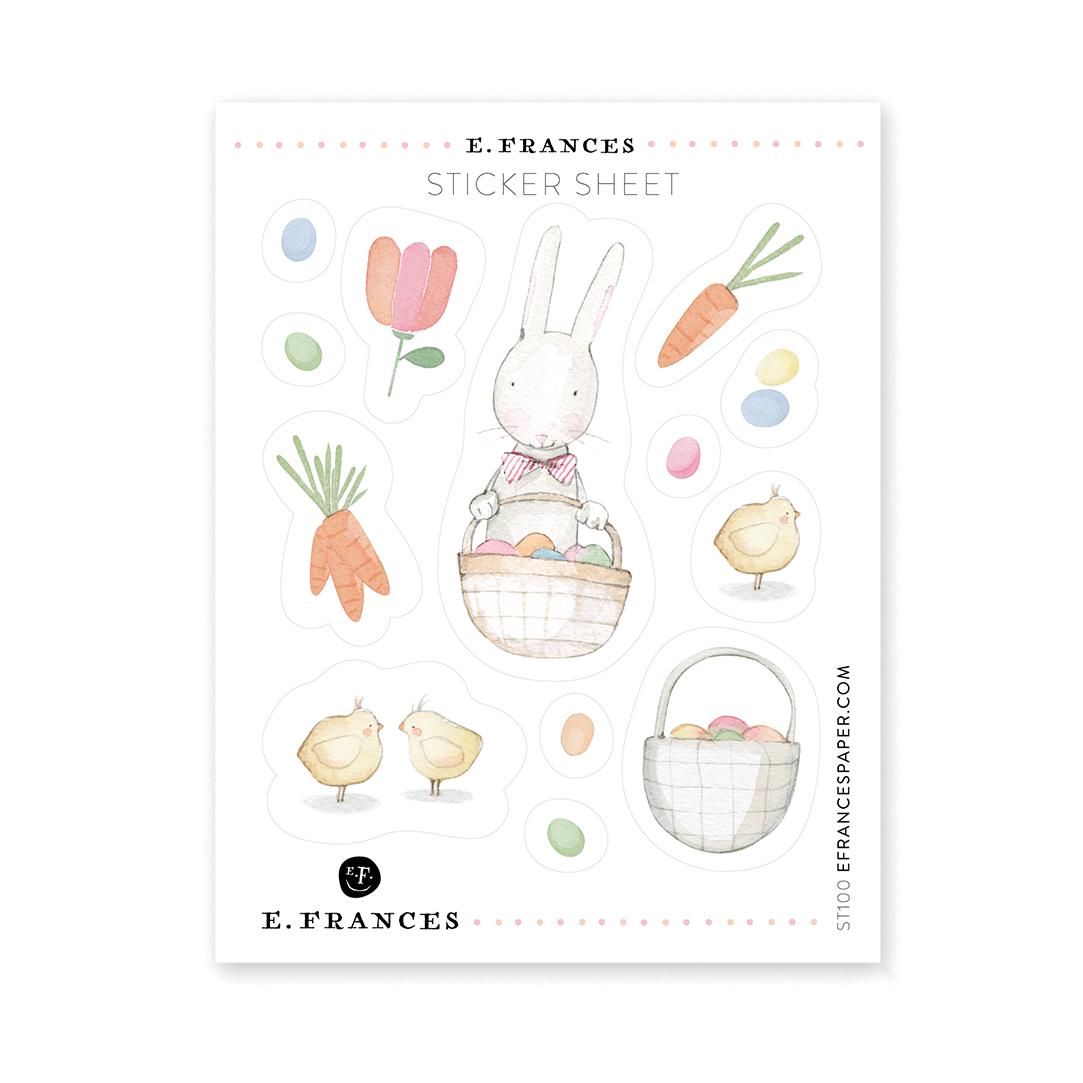 E. Frances Paper Studio - EF E. Frances - Easter Sticker Sheet