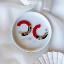 Nat + Noor - NAN Nat + Noor - Roza Two Tone Red Hoop Earrings