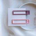 Nat + Noor - NAN Nat + Noor - Lu Lu Hair Clips in Mauve + Pink