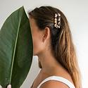 Nat + Noor - NAN Nat + Noor - Tortoise Hair Clips in Ivory Tortoise, Set of 2