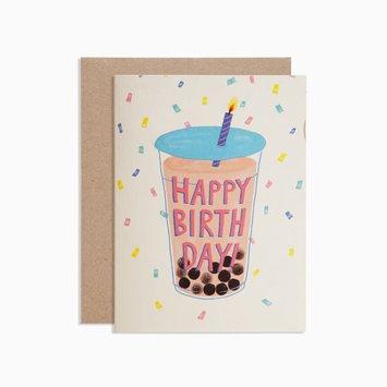 poketo Happy Birthday Boba Card