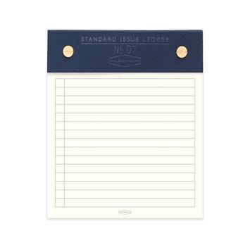 Designworks Ink Blue Standard Issue Post Bound Note Pad, 5 X 6