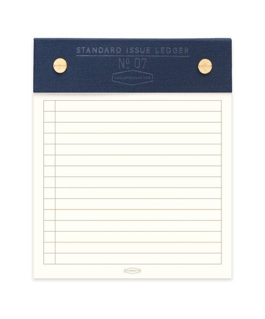 Designworks Ink - DI Blue Standard Issue Post Bound Note Pad, 5 X 6