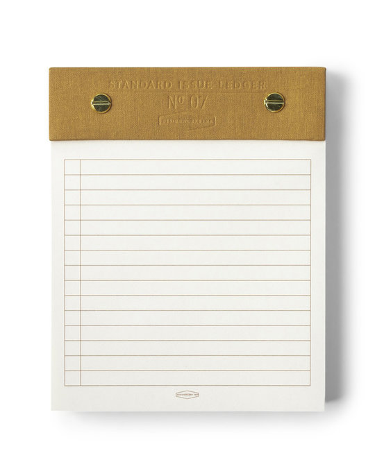 Designworks Ink - DI Ochre Standard Issue Post Bound Note Pad, 5 X 6
