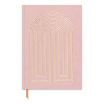 Designworks Ink Dusty Pink Radiant Rainbow Suede Lined Notebook