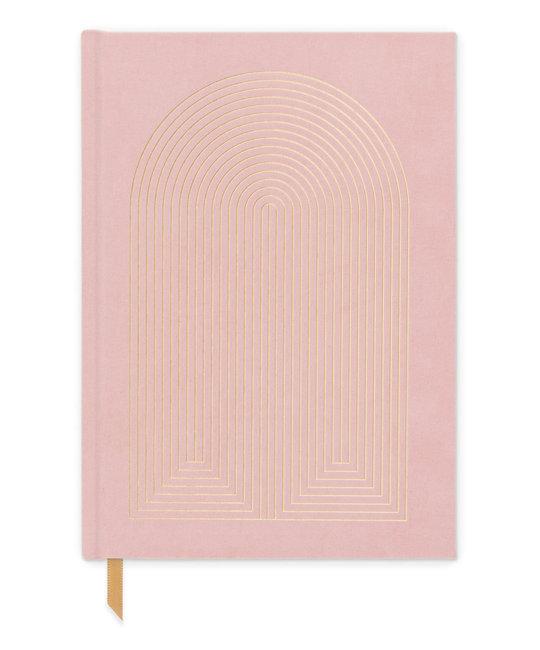 Designworks Ink Dusty Pink Radiant Rainbow Suede Lined Notebook