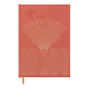 Designworks Ink - DI Bright Terracotta Radiant Rays Suede Lined Notebook