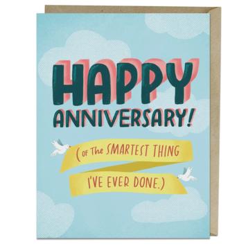 Em + Friends - EMM Smartest Thing Anniversary Card
