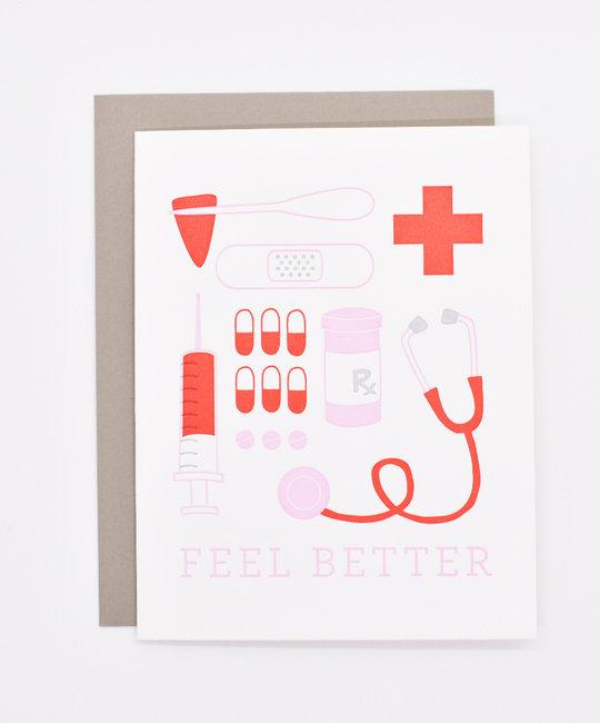 Printerette Press - PRP Feel Better! Get Well Card