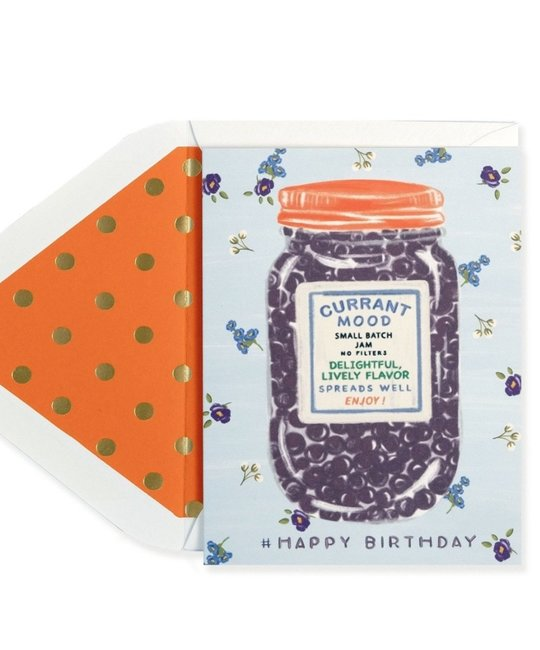 The First Snow - FIS Currant Mood Happy Birthday Card