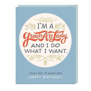 Em + Friends - EMM Grown Ass Lady Sticker Birthday Card