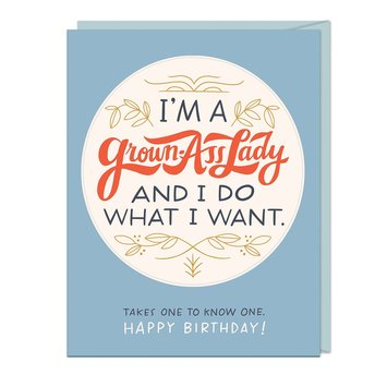 Emily McDowell - EMM Grown Ass Lady Sticker Birthday Card