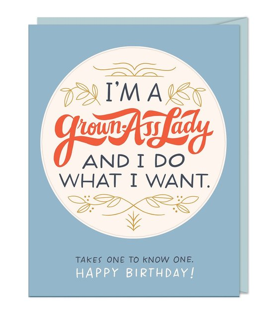 Em + Friends - EMM Grown Ass Lady Sticker Birthday Card