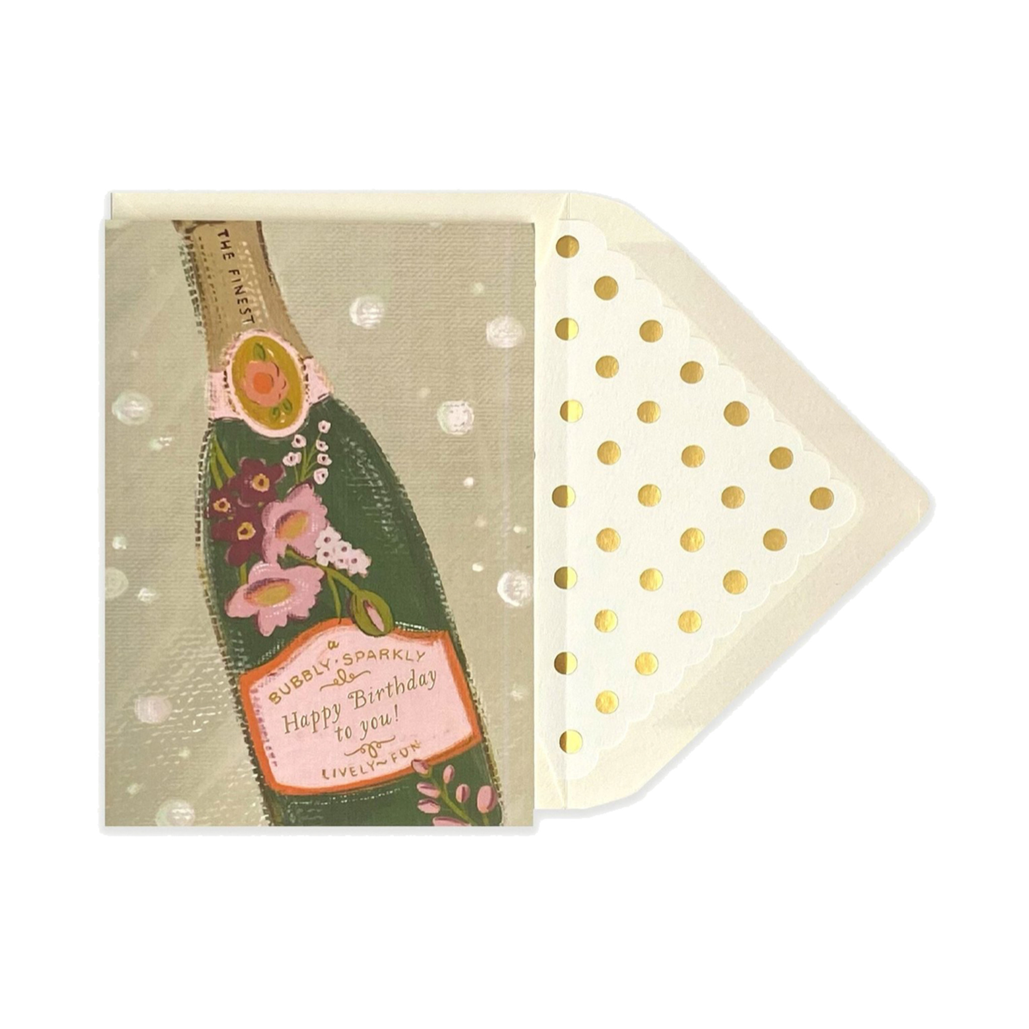 The First Snow - FIS Bubbly Sparkly Happy Birthday Card