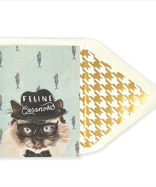 The First Snow - FIS Feline Casanova Card