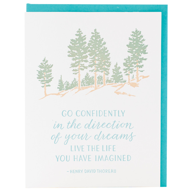 Smudge Ink - SI Life Imagined Thoreau Quote Card