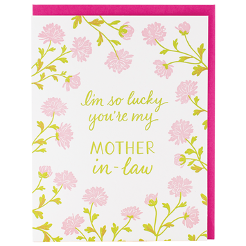 Smudge Ink - SI Pink Mums Mother In Law Mother's Day Card