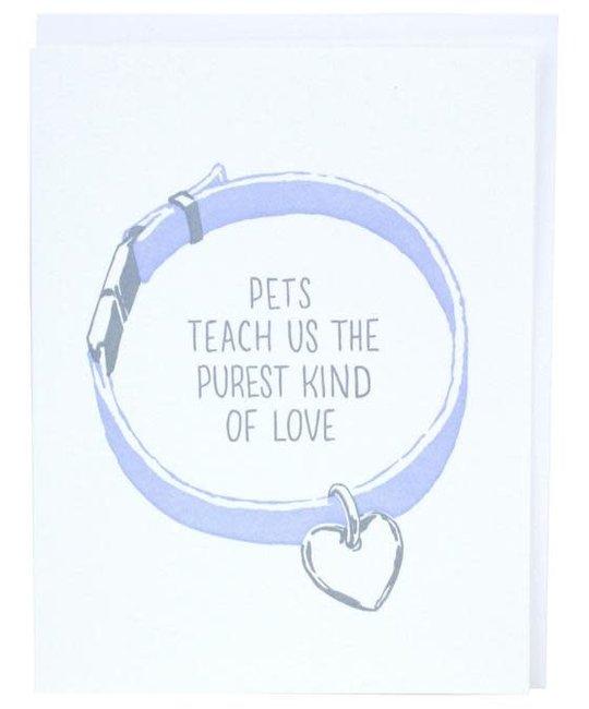 Smudge Ink - SI Pet Collar Pet Sympathy Card