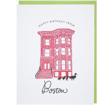 Smudge Ink - SI Happy Birthday From Boston Card