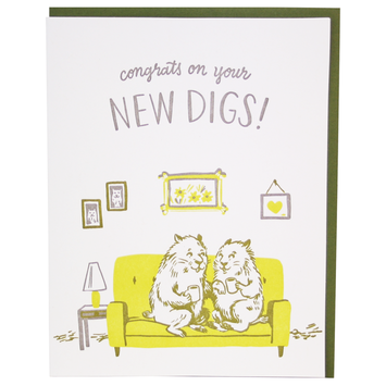 Smudge Ink - SI Groundhogs New Home Card