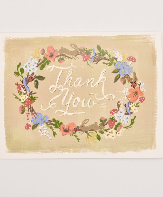 The First Snow - FIS Floral Wreath Thank You Card