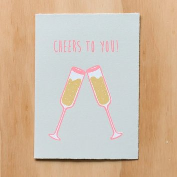Gold Teeth Brooklyn - GTB Cheers to You Champagne Card