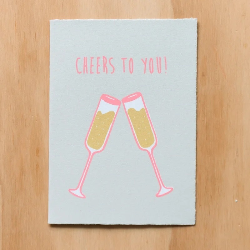 Gold Teeth Brooklyn - GTB Cheers to You Champagne Card