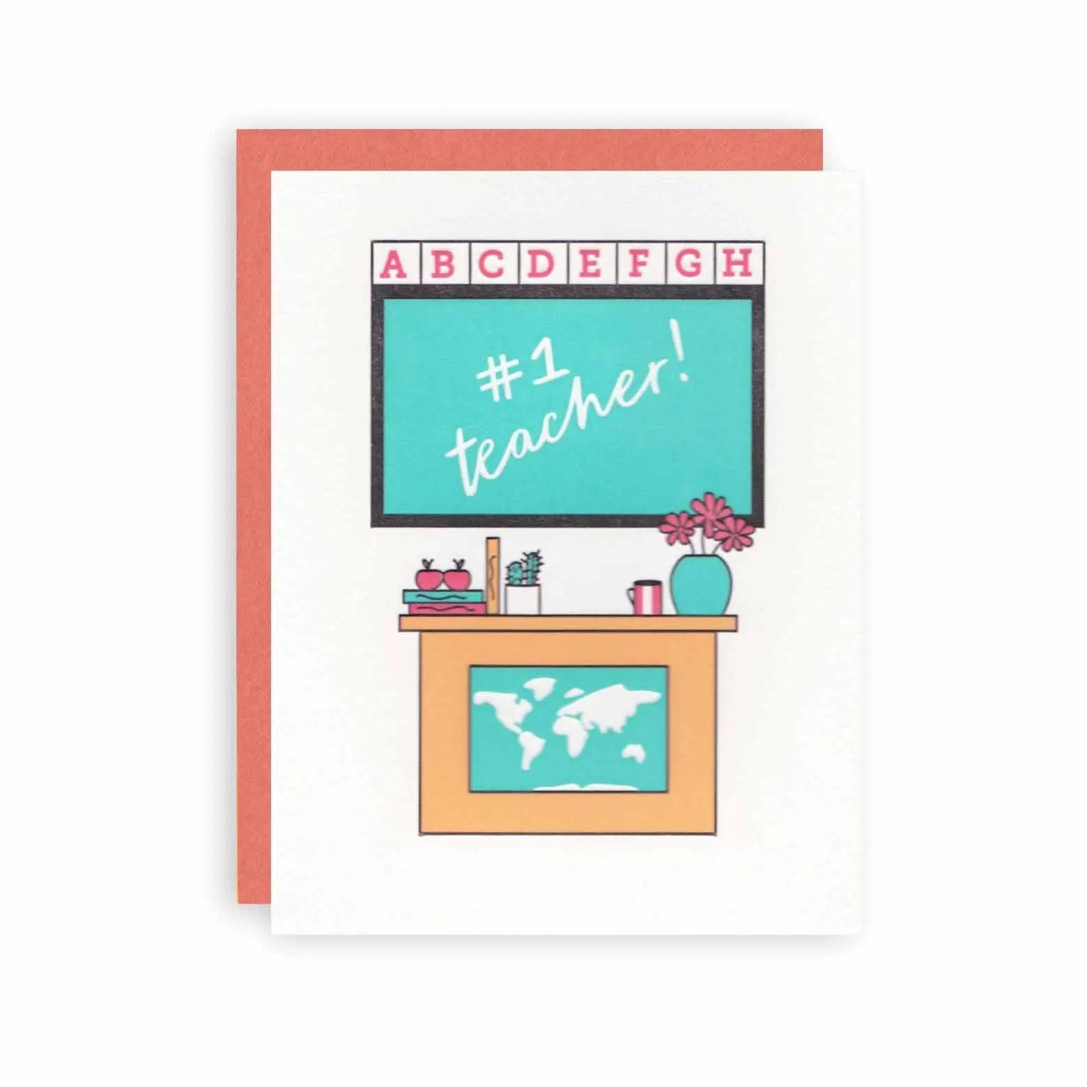 KB Paperie - KBP KBPGCMI0001 - #1 Teacher Card