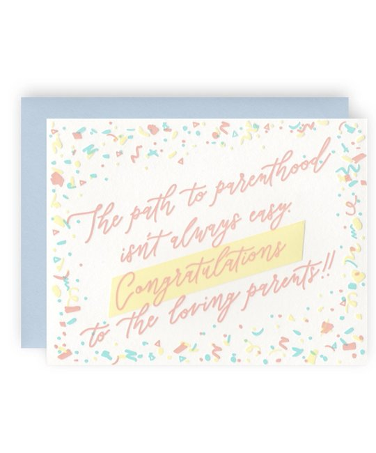 KB Paperie - KBP KBPGCBA0003 - Path to Parenthood New Baby Card