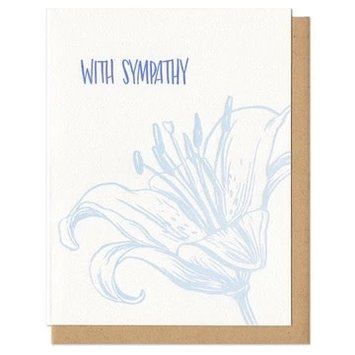 Frog & Toad Press FTGCSY0002 - With Sympathy Tiger Lily