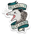 Frog & Toad FT ST - Internally Screaming Opossum Sticker