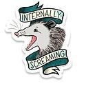 Frog & Toad Press - FT FT ST - Internally Screaming Opossum Sticker