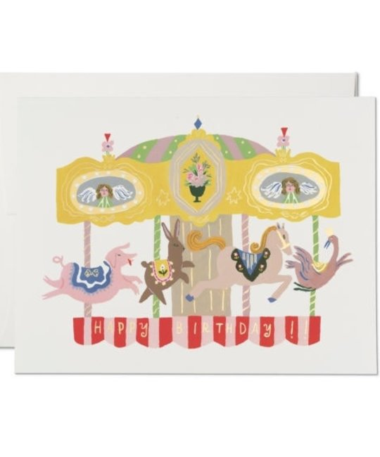 Red Cap Cards - RCC RCCGCBI0036 - Merry Go Round Birthday