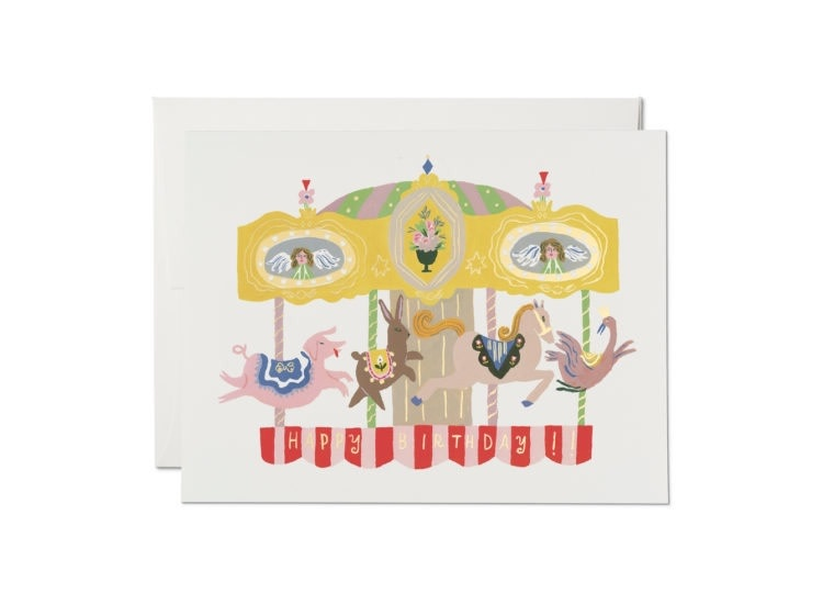 Red Cap Cards - RCC RCCGCBI0036 - Merry Go Round Birthday