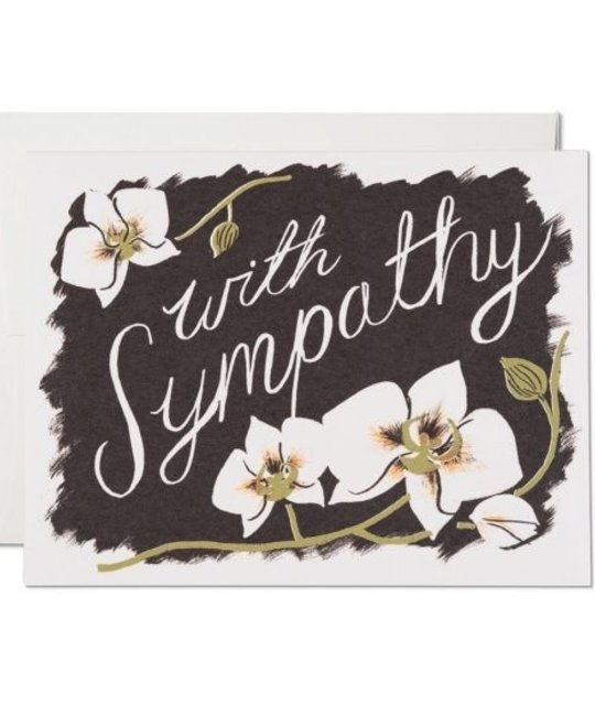 Red Cap Cards - RCC RCCGCSY0001 - Sympathy orchids