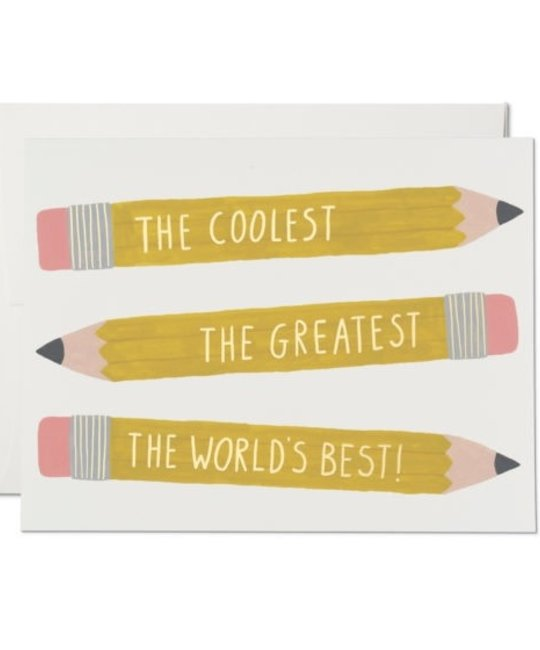 Red Cap Cards - RCC RCCGCMI0031 - Pencils Coolest Greatest Best