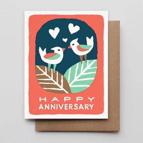 Hammerpress - HA Love Birds Anniversary Card