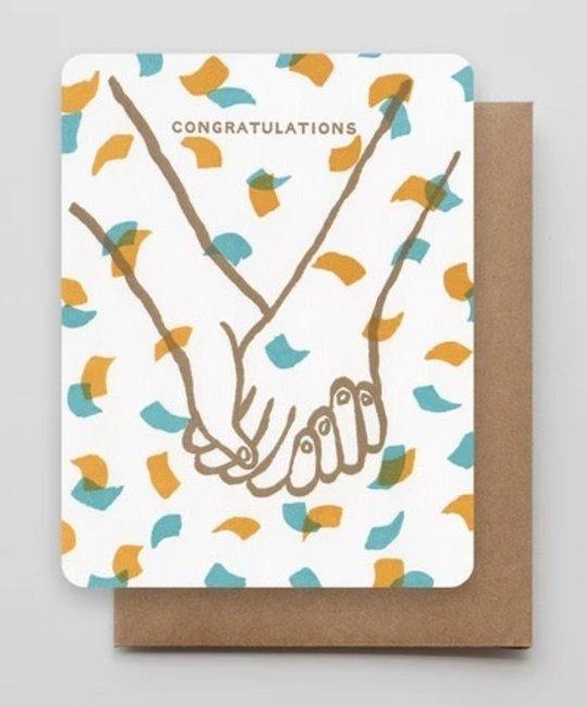Hammerpress - HA Hand in Hand Confetti Congratulations Card