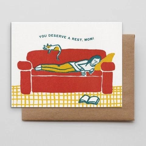 Hammerpress - HA Napping Mom Card