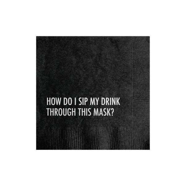 The Matt Butler - TMB Mask Drink Cocktail Napkins