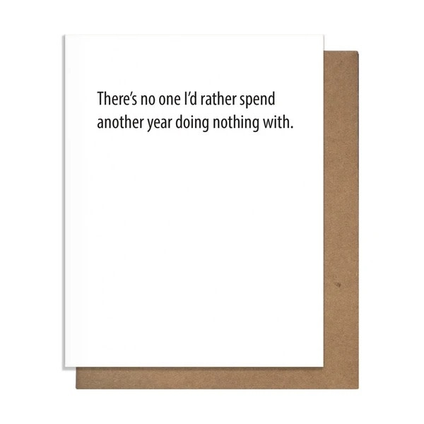 The Matt Butler - TMB Doing Nothing For Another Year Card