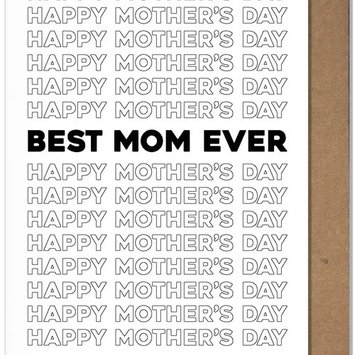 The Matt Butler - TMB Best Mom Ever Mother's Day Card