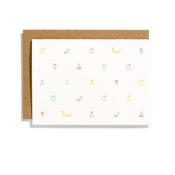 Iron Curtain Press - IC Fruit Pattern Note Card Set