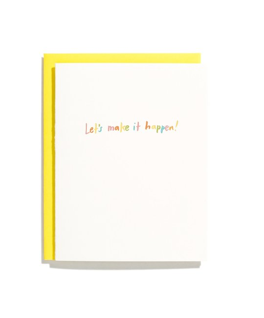Iron Curtain Press - IC Let's Make it Happen Card