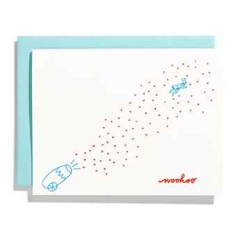 Iron Curtain Press - IC Confetti Cannon WOOHOO Card
