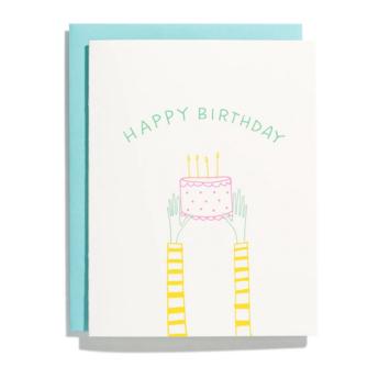 Iron Curtain Press - IC Holding Cake Birthday Card